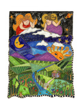 Big Diva Angels Quilting Our World Giclee Print by  Wyanne