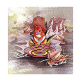 Autumn Squirrel Giclee Print by  The Tangled Peacock