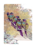 Purple Parrots Giclee Print by  The Tangled Peacock
