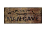 Mancave with Wrench Giclee Print by  Art Licensing Studio