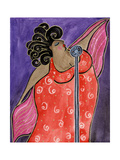 Big Diva Blues Singer Giclee Print by  Wyanne