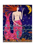 Big Diva Mermaid Making Stars Giclee Print by  Wyanne