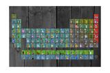 License Plate - Periodic Table Reproduction procédé giclée par  Design Turnpike
