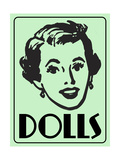 Dolls Green Giclee Print by  Retroplanet