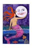 Big Diva Mermaid Moon Lover Giclee Print by  Wyanne