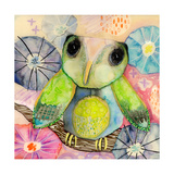 Hello World Baby Owl Giclee Print by  Wyanne