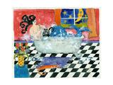 Big Diva Mermaid Bubble Bath Giclee Print by  Wyanne