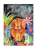 Good to Be King Lion Giclee Print by  Wyanne