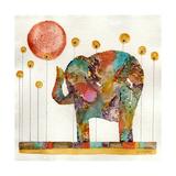 Elephant in Sunflower Field Giclee Print by  Wyanne