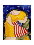Big Diva Mending Our Flag Giclee Print by  Wyanne