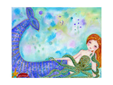 Mermaid Besties Giclee Print by  Wyanne
