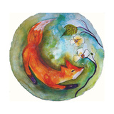 Fox in the Round Giclee Print by  Wyanne