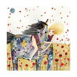 Wind in the Poppy Field Giclee Print by  Wyanne