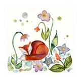 Fox Napping in the Garden Giclee Print by  Wyanne