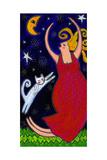 Big Diva Moonlight Goddess Dancing Giclee Print by  Wyanne