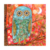 Funky Little Owl Giclee Print by  Wyanne