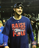 Kris Bryant celebrates winning Game 6 of the 2016 National League Championship Series Photo
