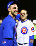 Kris Bryant & Anthony Rizzo celebrate winning Game 6 of the 2016 NLCS Photo