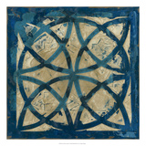 Stained Glass Indigo IV Premium Giclee Print by Megan Meagher