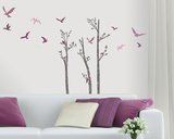 Birds in Birches Wall Decal