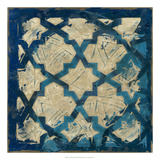 Stained Glass Indigo I Premium Giclee Print by Megan Meagher