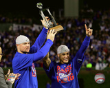 Jon Lester & Javier Baez celebrate being named Co-MVPs Game 6 of the 2016 NLCS Photo