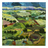 Into the Fields Premium Giclee Print by Allan Friedlander