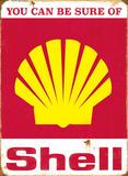 Sure of Shell Plaque en métal
