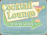 Cocktail Lounge Tin Sign