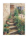 Stairway in Provence Premium Giclee Print by Roger Duvall