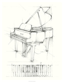 Piano Sketch Premium Giclee Print by Ethan Harper