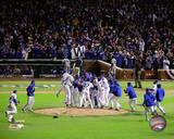 The Chicago Cubs celebrate winning Game 6 of the 2016 National League Championship Series Photo