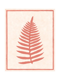 Silhouette in Coral I Poster by Susan Davies