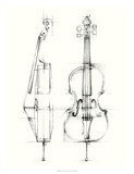 Cello Sketch Premium Giclee Print by Ethan Harper