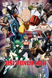 One Punch Man- Character Collage Kunstdrucke