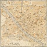 Mapa Di Firenze, 1896 Poster by Lorenzo Fiore