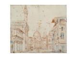Firenze Perspective Posters af Baldassare Peruzzi