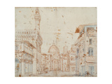 Firenze Perspective Premium Giclee Print by Baldassare Peruzzi