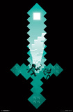Minecraft- Diamond Sword Battle Sight Posters