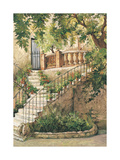 Courtyard in Provence Print by Roger Duvall