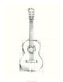 Guitar Sketch Premium Giclee Print by Ethan Harper