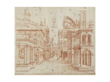 Roman Perspective Prints by Baldassare Peruzzi