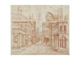 Roman Perspective Premium Giclee Print by Baldassare Peruzzi