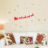 Santa's Sleigh Wall Decal
