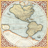 Terra Major Petites A Print by Gerardus Mercator