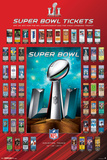 NFL: Super Bowl 51 Ticket Collection Posters