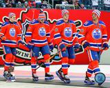 Edmonton Oilers Team Introduction 2016 NHL Heritage Classic Photo