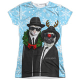 Juniors: Pets Rock- Brothers Blue Christmas T-Shirt