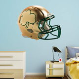 NCAA Notre Dame Fighting Irish 2015 Gold Shamrock RealBig Helmet Wall Decal