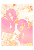 Pink Flamingos 2 Prints by Kimberly Allen